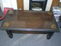 Game of Thrones Inspired Solid Dark Wood Coffee Table