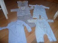 0-3 month small boys bundle (inc Mamas and Papas and Gap)