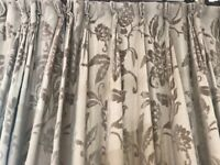 Laura Ashley full length lined curtains - 2 pairs available slightly different widths