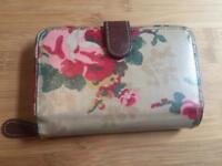Genuine Cath Kidston beige flower Floral zip Purse wallet GC