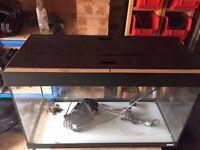 Fluval Roma 125 Aquarium & Cabinet Set - Black