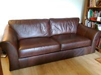 M&S Leather sofa, excellent condition.