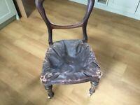 Restoration project old dining room chair