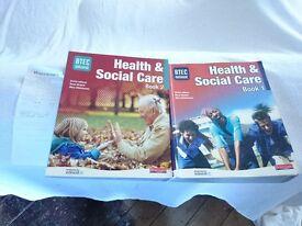 BTEC Health & Social books