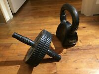 9kg Lonsdale dumbbell + Abs Wheel