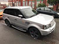 Range Rover sport 2.7L 2005 silver fully loaded L@@k