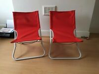"Set of two Ikea ""Hamo"" beach chairs NEW"
