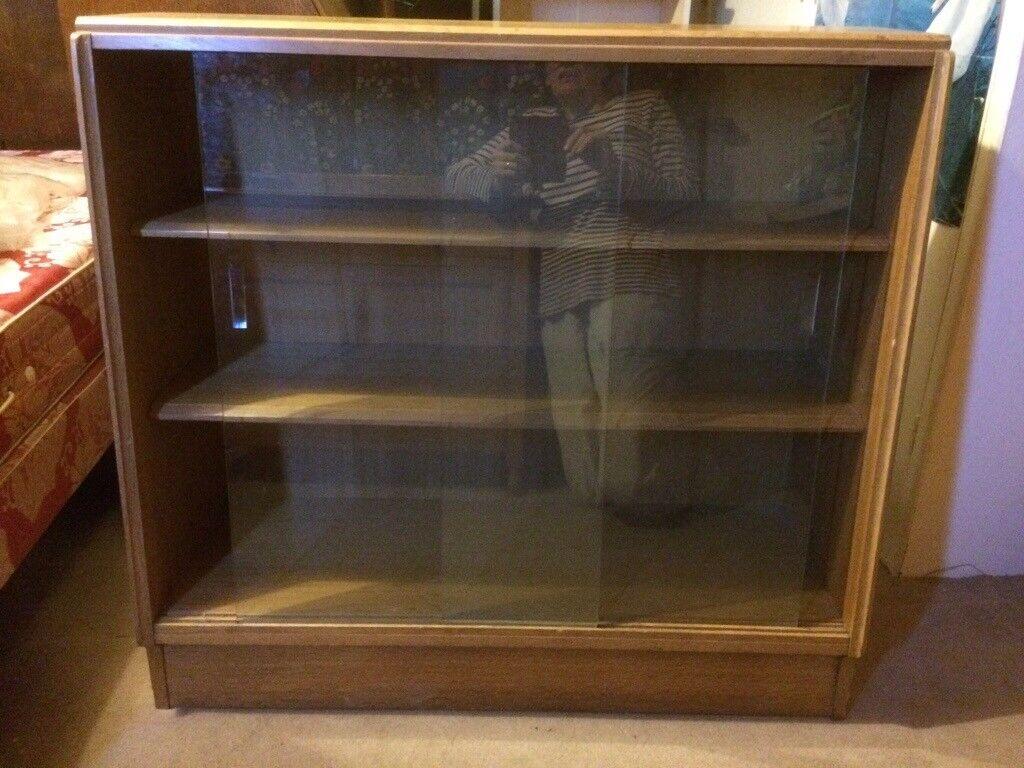 Short Bookcase With Sliding Glass Doors In Frampton Cotterell Bristol Gumtree
