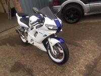 2000 YAMAHA YZF R6 600CC WHITE