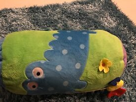 Tummy time pillow with mirror on end