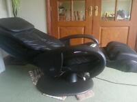 Black electric massage chair