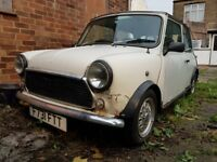 AUSTIN Mini, August 1988, 998 cc, White, Cat C, Spares or Repairs