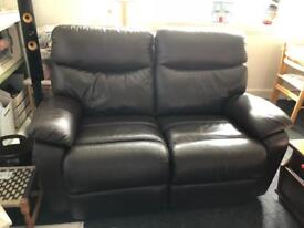 Electric Recliner Leather 2-seater
