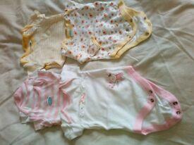 Bundle of 9 girls baby grows, M&S, Disney, Baby Gap
