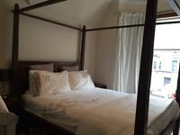 Solid wood four poster king size bed frame