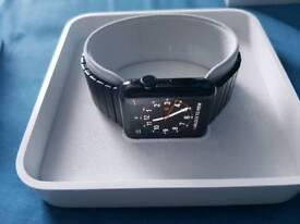Apple watch black stainless steel new