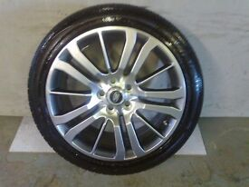 ALLOYS X 4 OF 20 INCH GENUINE RANGEROVER HSEOR DISCOVERY FULLY POWDERCOATED IN STUNNING SHADOWCHROME