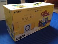 Sony PSP 2004 The Simpsons Limited Edition Yellow Handheld System + Game