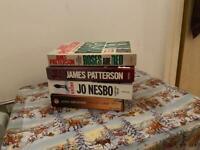 James Patterson, Jo Nesbo, John Grisham books