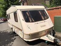 Elddis 6 berth caravan and awning 1992