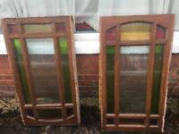 SASH WINDOWS WITH DOUBLE GLAZED STAINED GLASS