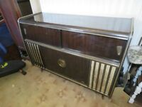 Vintage Blaupunkt Arkansas Deluxe Stereo Radiogram sound system and Cocktail Cabinet