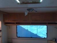 Hobby Caravan Rear end sofa area locker boxes/cupboards, camper conversion