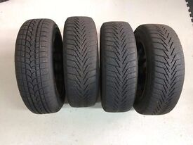 Set of 4 WINTER tyres 175/65/R14 82T all with plenty of tread