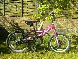 Bike for 6-8 year old (approx) in pink and black