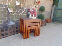 JALI SHESHAM NEST OF TABLES IN EXCELLENT CONDITION 45/30/45 cm £45