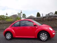 12 MONTH WARRANTY! (2003) VOLKSWAGEN BEETLE 1.6- RED- Very Low Mileage- FSH- 2 Lady Owners- MOT 1 YR