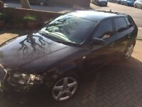 Audi A 3 black 5 door sportback new turbo pads alternator recent tyres drives great,egr light on