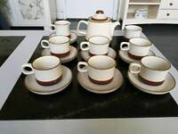 Denby potters wheel tea set.