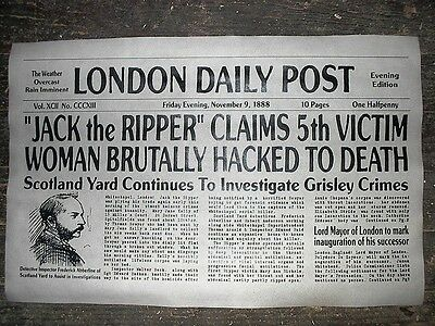 (037) NOVELTY POSTER HALLOWEEN JACK the RIPPER WHITECHAPEL LONDON 18
