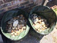 2 bags of garden stones