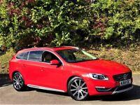 Volvo V60 D6 PLUG-IN HYBRID SE LUX NAV AWD (passion red) 2014