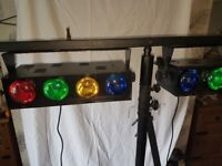 Disco Lights with Tripods and Support Crossbars x 2