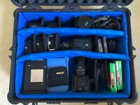 Hasselblad complete kit, 2 bodies, 3 lenses, all accesories, in fitted Pelican flight case