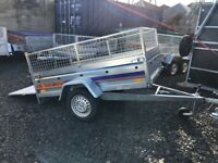 BRAND NEW MODEL 7x4 TRAILER SINGLE AXLE WITH 40CM MESH AND A RAMP