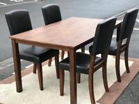 Dining Table and 4 Leather Chairs (@07752751518)