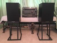 Full sound system (stereo system) - speakers, stereo integrated amplifier, turntable, CD player