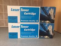 Laser toner cartridge x2