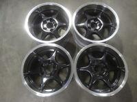 Set of 4 Genuine King's 16s wheels alloys BMW E36/46 etc deep dish drift stance