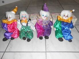 4 Brand New Boxed Clowns