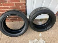 225/45/17 2x Pirelli tyres