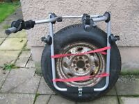 BIKE/CYCLE,CARRIER/RACK FOR 4 X 4 VEHICLES fits over the spare wheel HOLDS UP TO 2 BIKES see pic's