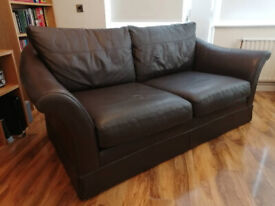 M&S Large 2-Seater Sussex Chocolate Leather Sofa