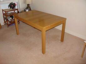Oak Dining Table 6-seater Extendable BJURSTA