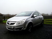 2008 Vauxhall Corsa 1.0 Breeze, 3dr, silver, full MOT, alloys not fiesta 206 207 c3 micra clio yaris