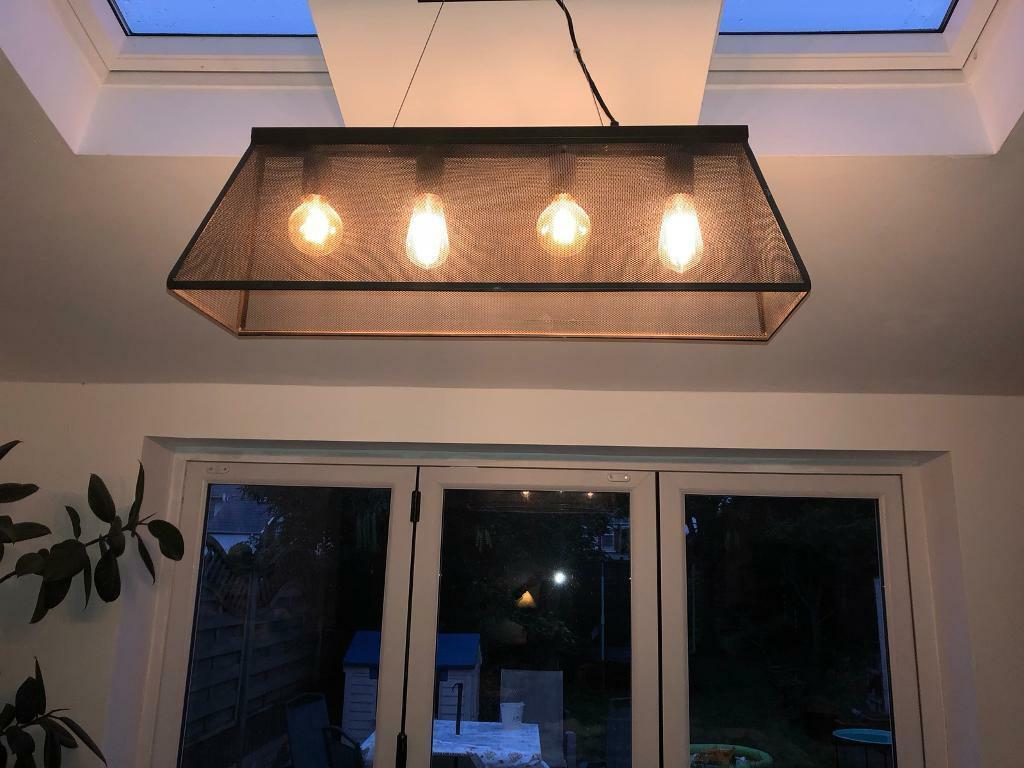 Industrial Style Ceiling Light Fitting In Llandaff